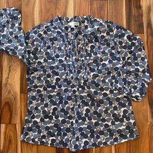 Boden Women's pullover Tunic Shirt 3/4 sleeve 12